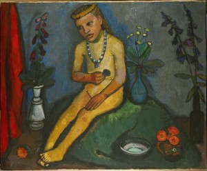 Seated Girl Nude with Vases of Flowers, 1906/7 PMB